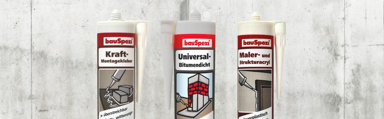bauSpezi Eigenmarke Kleb- und Dichstoffe